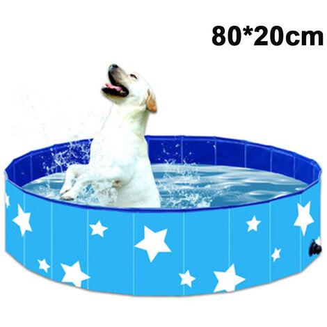 PVC Pet Swimming Pool Portable Pliable Piscine Baignoire Baignoire Lavage Bassin D'eau Piscine Pet Pool Kiddie Piscines pour Enfants Dans Le Jardin --- bleu