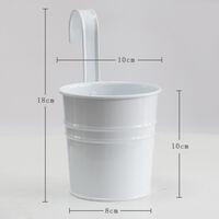 Lot de 6 jardinières suspendues colorées colorées fleur balcon pot de fleur couleur seau suspendu en métal pot suspendu seau en métal personnalité créative grand pot de fleur