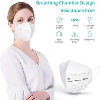 FFP2 - KN95 Masque de protection respiratoire Masque anti-poussière Masque respiratoire Masque facial à 5 couches 20 pièces certifié par l'union européenne