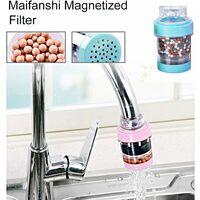 6pcs mini filtre à eau de robinet robinet deau au charbon actif charbon robinet leau cartouche de filtre purificateur propre robinet de filtre à eau de cuisine de douche dappoint
