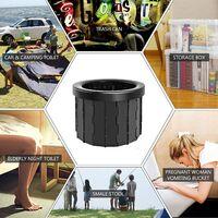 Toilettes de camping, toilettes portables, toilettes de camping en plein air, chaise d'aisance pliante mobile, adaptée pour le camping, la randonnée, les visites touristiques, les embouteillages