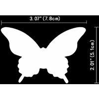 100 Pcs Papier 3D Papillon Blanc Stickers Muraux Amovible Art Artisanat Papillons Stickers Mural pour La Maison Chambre Pépinière Filles Chambre DIY Mur