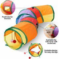 """Cat Toys Tunnel pour chat, fabriqué en ultra-résistant, peut être utilisé pour les chats, les lapins, les chiots et les furets, style S, 48,4 """"9,8"""""""