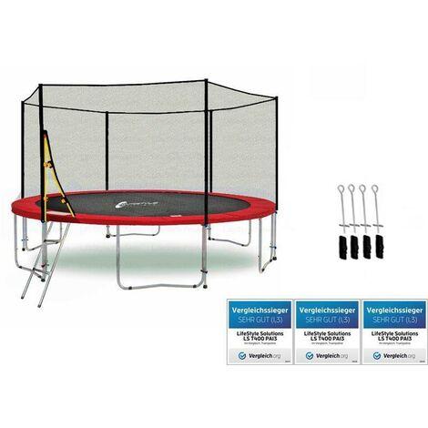 LS-T370-PA12 (RA) LifeStyle ProAktiv Trampoline pour le jardin - 370cm - 12ft