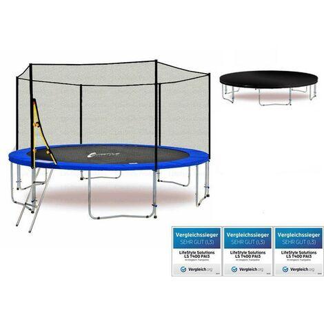 LS-T370-PA12 (BW) LifeStyle ProAktiv Trampoline pour le jardin - 370cm - 12ft