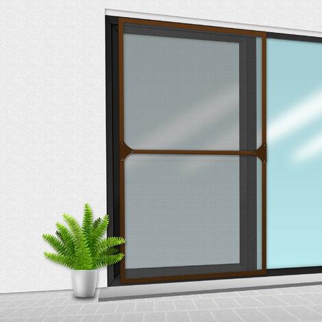 Porte Moustiquaire 150x220 cm Brun - bicolore