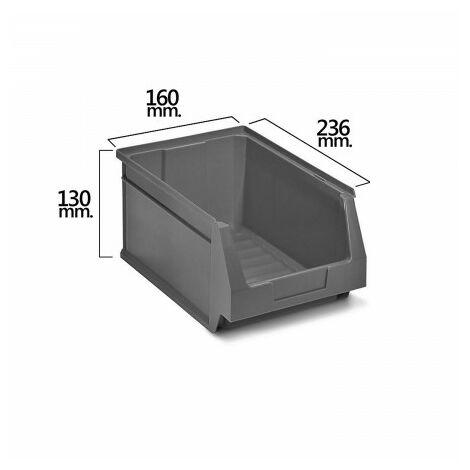 Tiroir empilable stockage gris nº52 236x160x130 mm. (2/6)