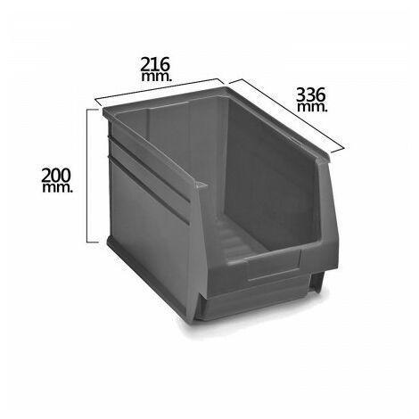 Tiroir empilable stockage gris nº55 336x216x200 mm. (3/6)