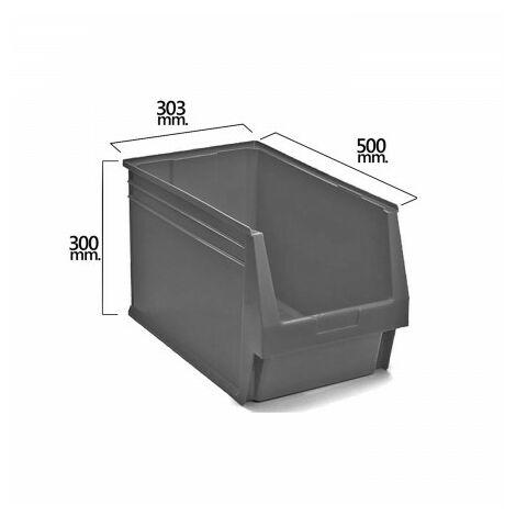 Tiroir empilable stockage gris nº59 500x303x300 mm. (5/6)