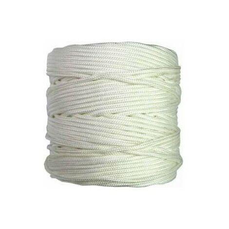 Rouleau 200mt. corde tressée 4mm. blanca