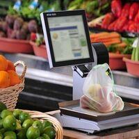 Sacs à provisions réutilisables en maille 4 unités, 2 sacs de 30x35 cm et 2 sacs de 30x43 cm. pour fruits,légumes,vergetales