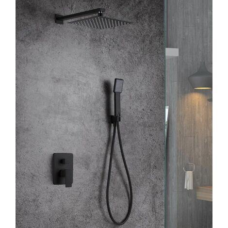 Kit ducha empotrada negro mate Serie Dublin - IMEX