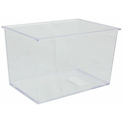 Aquarium en plastique vide, moyen