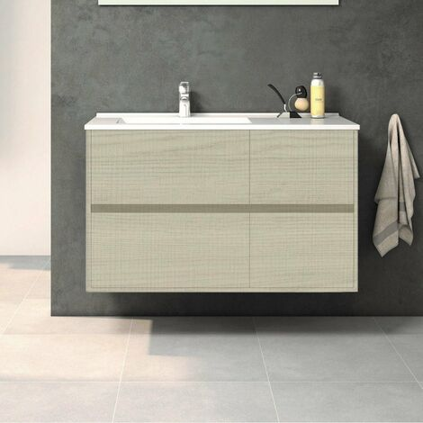Mueble de Lavabo suspendido TUELA - 100 cm de ancho TAIGA