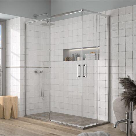 Angular de ducha 2 Fijos + 2 Puertas Correderas YOKO 120 x 90 cm
