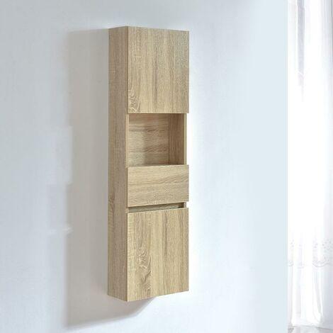 Armario ESSENTIEL 120 cm de largo acabado en fibra de madera roble
