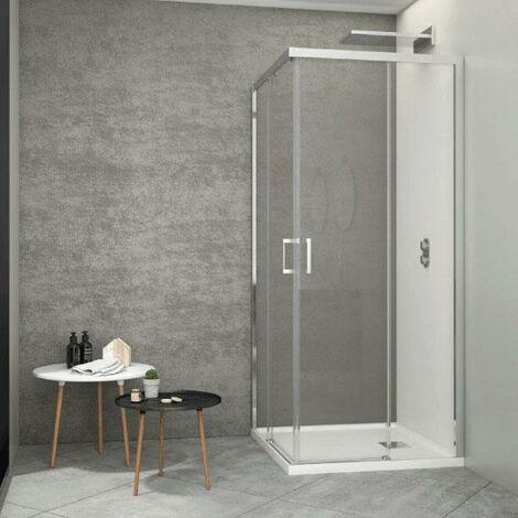Angular de ducha 2 Fijos + 2 Puertas Correderas JOHNSON SIN DECORADO Izquierdo 70 cm x Derecha 70 cm