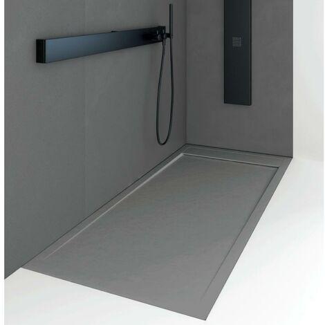 Plato de ducha resina QUORE CENIZA 80x120cm
