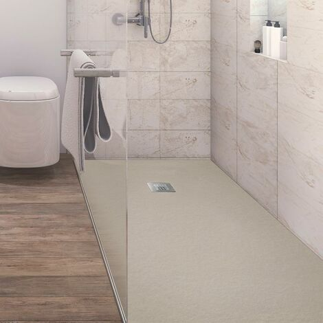 Plato de ducha resina ANDERSON CREMA 90x160 cm