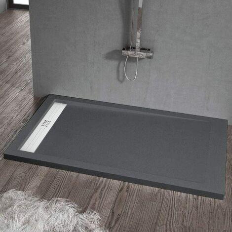 Plato de ducha resina ELITE ANTRACITA 70x140cm