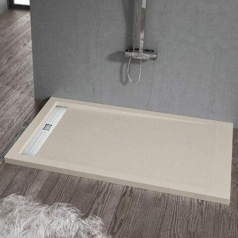 Plato de ducha resina ELITE CREMA 70x140cm