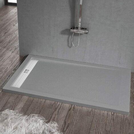 Plato de ducha resina ELITE CENIZA 80x120cm
