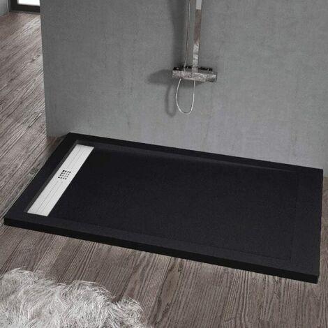 Plato de ducha resina ELITE NEGRO 90x160cm