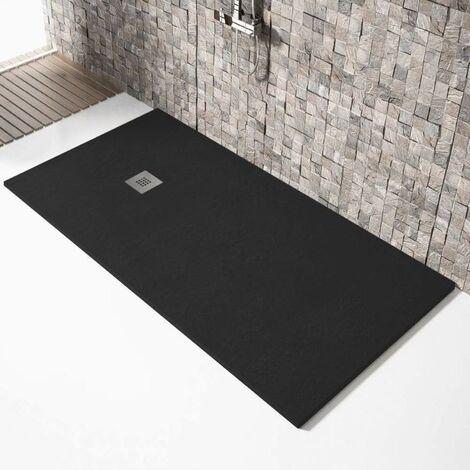 Plato de ducha resina MADISON NEGRO 80x120cm