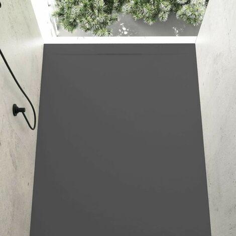 Plato de ducha resina COVER ANTRACITA 80x120cm