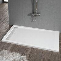 Plato de ducha resina ELITE BLANCO 80x120cm