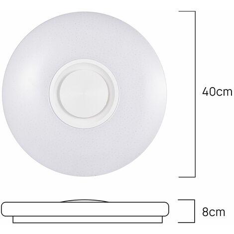 Plafonnier RGB musique Bluetooth 60W