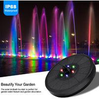 Fontaine Solaire Lumières LED Colorées Fontaine de Piscine