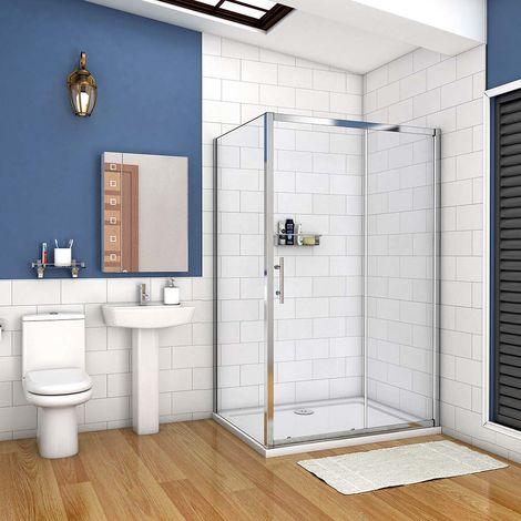 cabine de douche 100x90cm porte coulissante plus une paroi latérale hauteur :190cm
