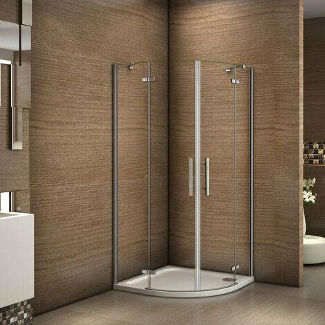 80x80x195cm porte de douche à charnière avec un receveur correspondant à la dimension de la cabine de douche