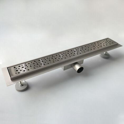 Caniveau de douche italienne 90 cm Bulles en acier inoxydable 100% SUS304 siphon de sol à fente latérale rectangulaire