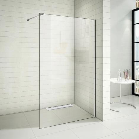 Paroi de douche 90x200cm paroi de douche à l'italienne avec le caniveau de douche 90cm
