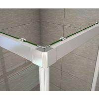 Cabine de douche 70x120x195cm en 6mm verre anticalcaire porte de douche coulissante l'accès d'angle