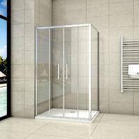 120x80x190cm porte de douche coulissante avec un receveur correspondant à la dimension de la cabine de douche