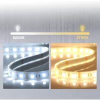 ?60cm avec Anti-buée +2 couleurs LED + luminosité réglables Rond