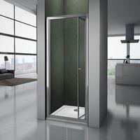Porte de douche pliante 80x185cm 4mm verre trempé