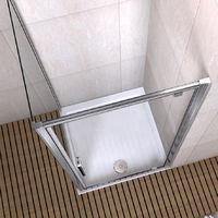 Porte de douche 90x90x185 cm porte pivotante cabine de douche verre securit