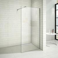 Paroi de douche 70x200cm paroi de douche à l'italienne avec le caniveau de douche 70cm