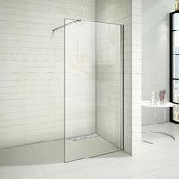 Paroi de douche 70x200cm paroi de douche à l'italienne avec le caniveau de douche 70cm en inox