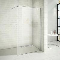 Paroi de douche 90x200cm paroi de douche à l'italienne avec le caniveau de douche 90cm en inox