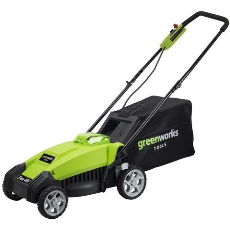 Greenworks 40V 35cm Cordless Lawnmower with battery and charger