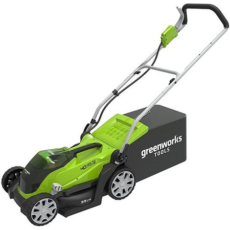 Greenworks 40V 35cm Cordless Mower with 2Ah Battery and Charger