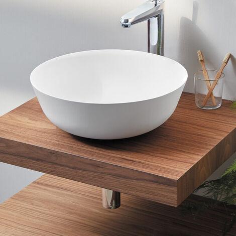 Plan vasque suspendu Zero finition Noix - 60 x 45 cm