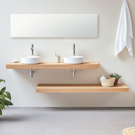 Plan vasque suspendu Zero finition Chêne - 140 x 45 cm