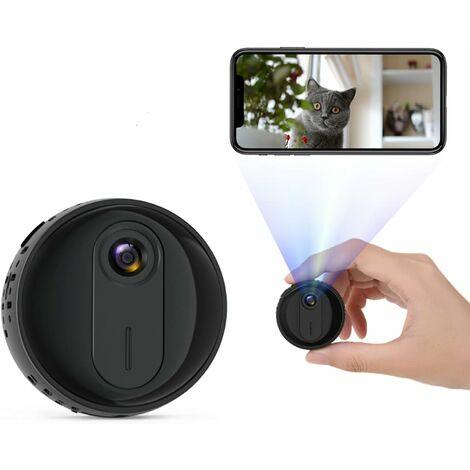 Mini Camera Espion, Full HD 1080P Caméra Surveillance Voiture sans Fil avec Vision Nocturne et Détection de Mouvement, Spy Cam Micro Camera pour la Maison et Le Bureau