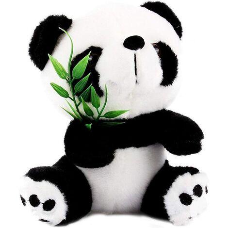 18cm Panda Peluches avec Bambou Mignon Doux, Toys Jouet De Poupée, Cadeau De NoëL pour Bébé Enfant,Panda à Suspendre avec Surgeon pour Décoration